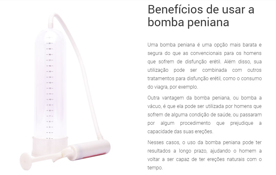 Bomba Peniana Beneficios